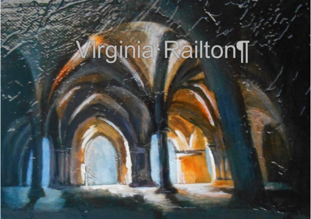 Gothic Arches 5x7 Mixed Media VR
