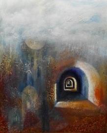 Portal - 24x30 mixed media on canvas