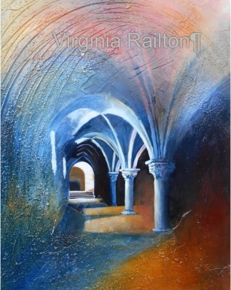 SOLD Gothic Tunnel 16x20 Mixed Media VR